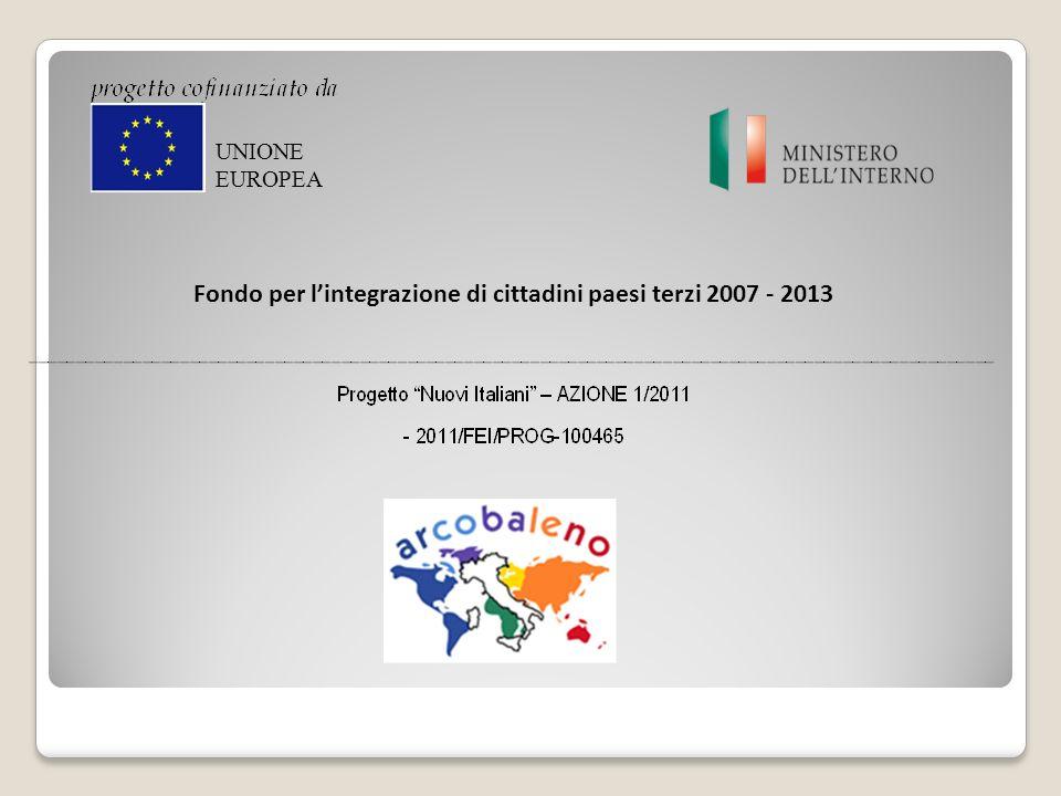 Fondo per lintegrazione di cittadini paesi terzi 2007 - 2013 UNIONE EUROPEA