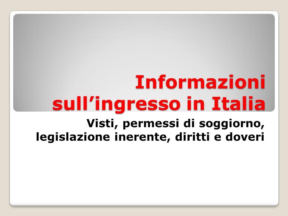 Visto per studio - Da richiedere allAmbasciata Italiana nel paese di provenienza - Stesse modalità del visto per turismo - Ha durata pari a quella del corso che si intende seguire - Permette di lavorare con un contratto non superiore alle 20 ore settimanali (part-time)