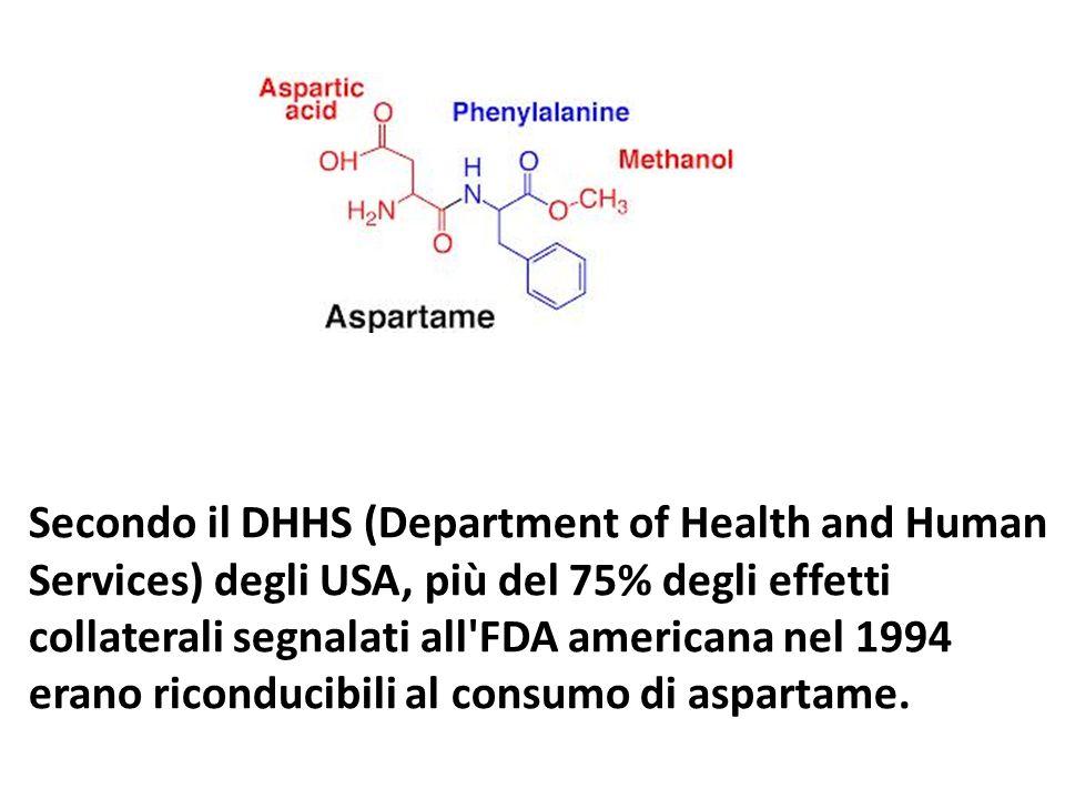 Secondo il DHHS (Department of Health and Human Services) degli USA, più del 75% degli effetti collaterali segnalati all'FDA americana nel 1994 erano