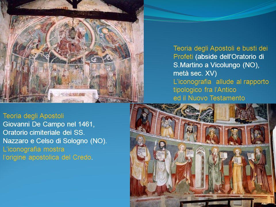 Teoria degli Apostoli Giovanni De Campo nel 1461, Oratorio cimiteriale dei SS. Nazzaro e Celso di Sologno (NO). Liconografia mostra lorigine apostolic