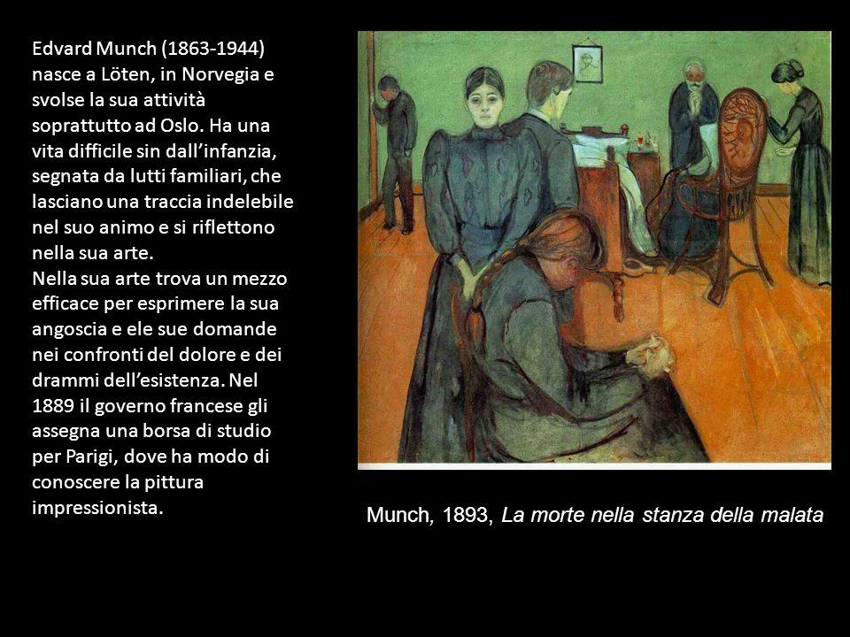 Edvard Munch (1863-1944) nasce a Löten, in Norvegia e svolse la sua attività soprattutto ad Oslo.