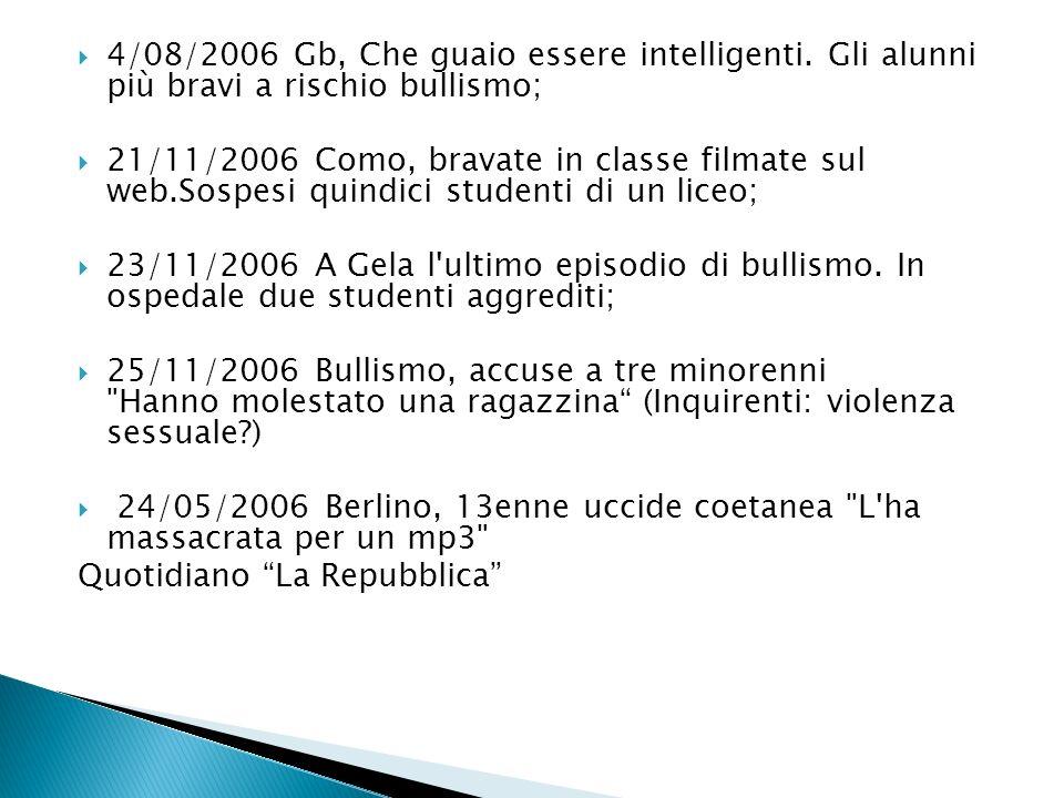 4/08/2006 Gb, Che guaio essere intelligenti.