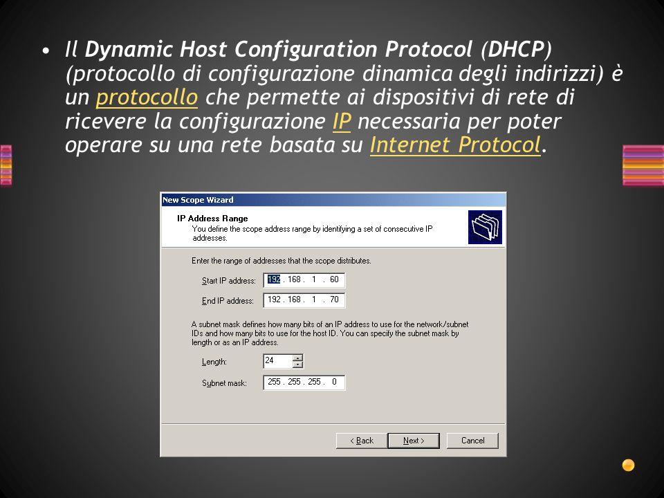 In una rete basata sul protocollo IP, ogni calcolatore ha bisogno di un indirizzo IP, scelto in modo tale che appartenga alla sottorete a cui è collegato e che sia unico, ovvero che non ci siano altri calcolatori che stiano già usando quell indirizzo.