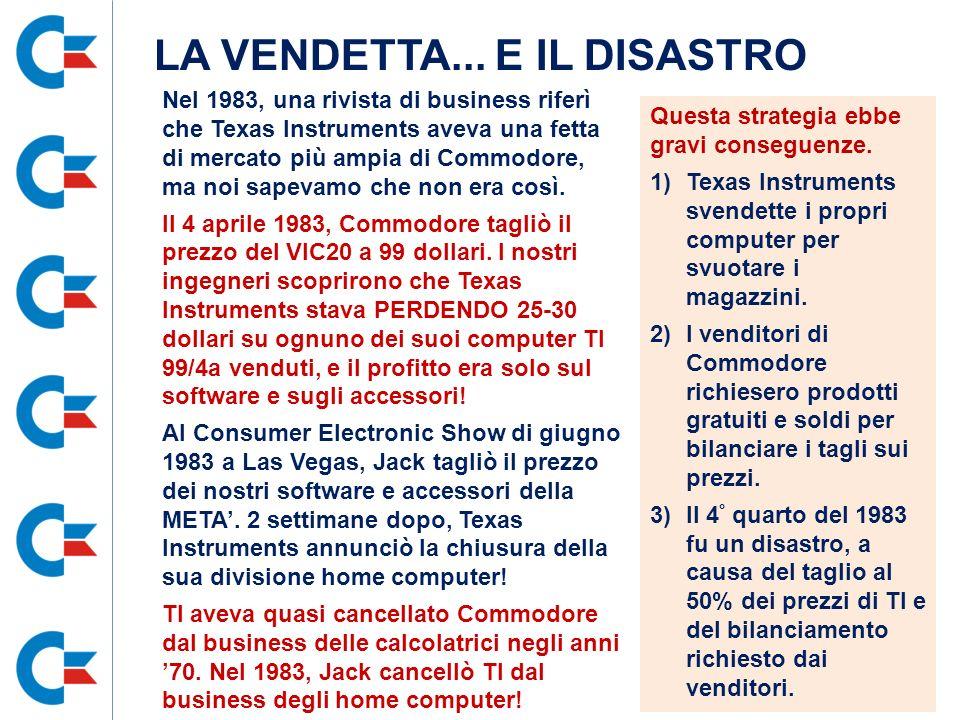 Nel 1983, una rivista di business riferì che Texas Instruments aveva una fetta di mercato più ampia di Commodore, ma noi sapevamo che non era così. Il