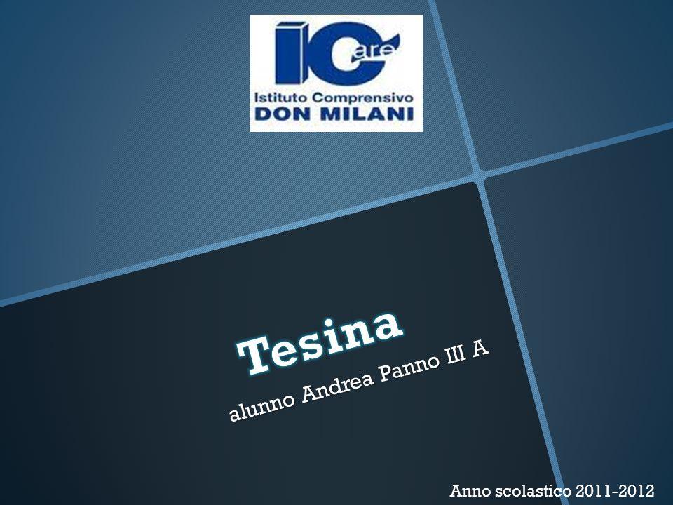 alunno Andrea Panno III A alunno Andrea Panno III A Anno scolastico 2011-2012