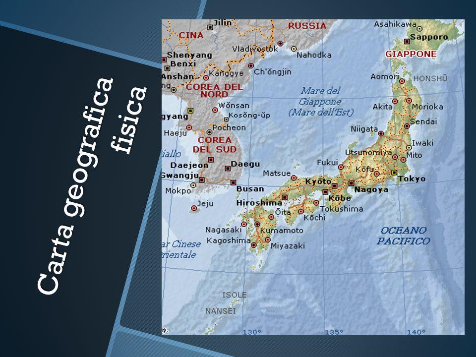 Carta geografica fisica