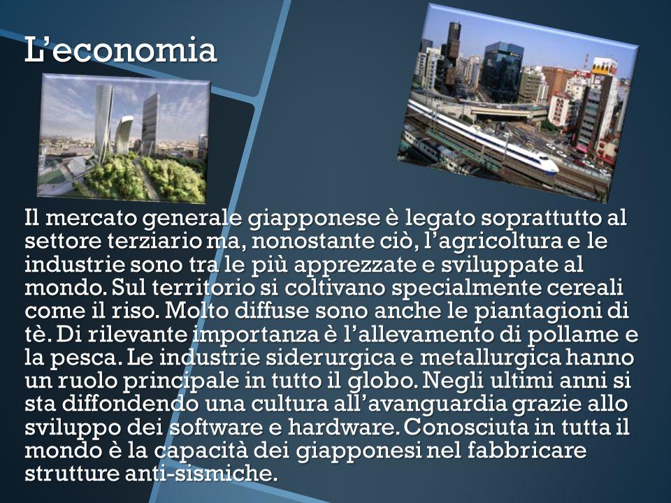 Leconomia Il mercato generale giapponese è legato soprattutto al settore terziario ma, nonostante ciò, lagricoltura e le industrie sono tra le più app
