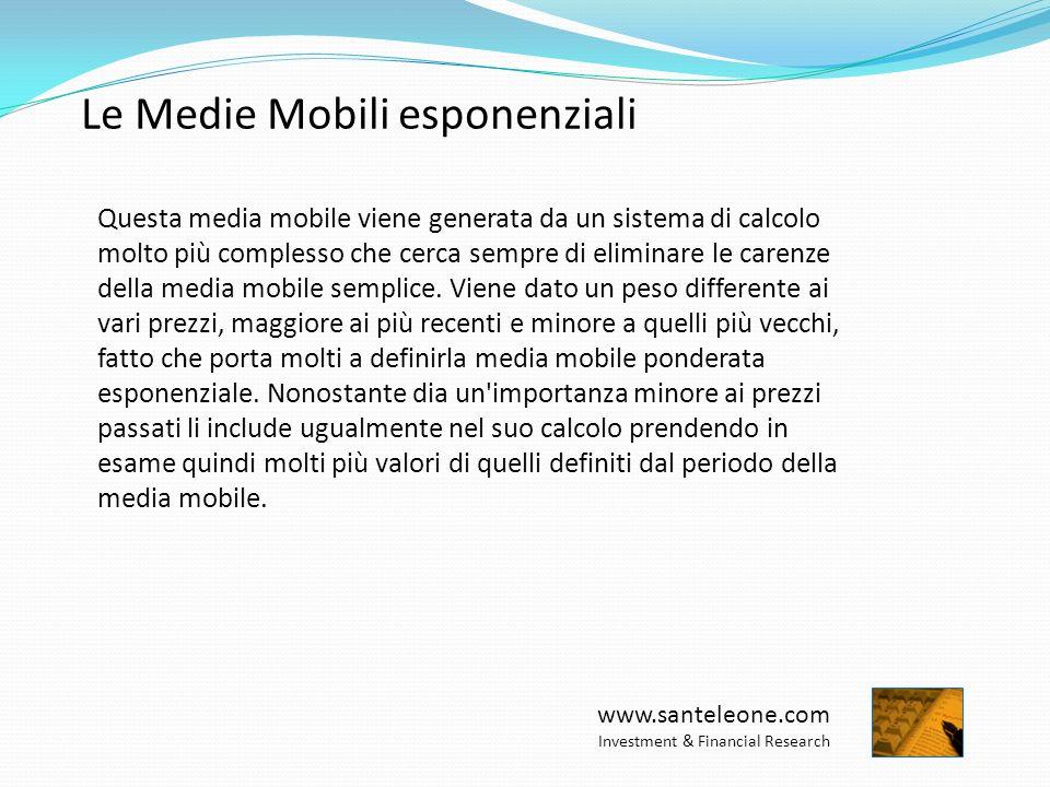 www.santeleone.com Investment & Financial Research Le Medie Mobili a 20/50/200 periodi