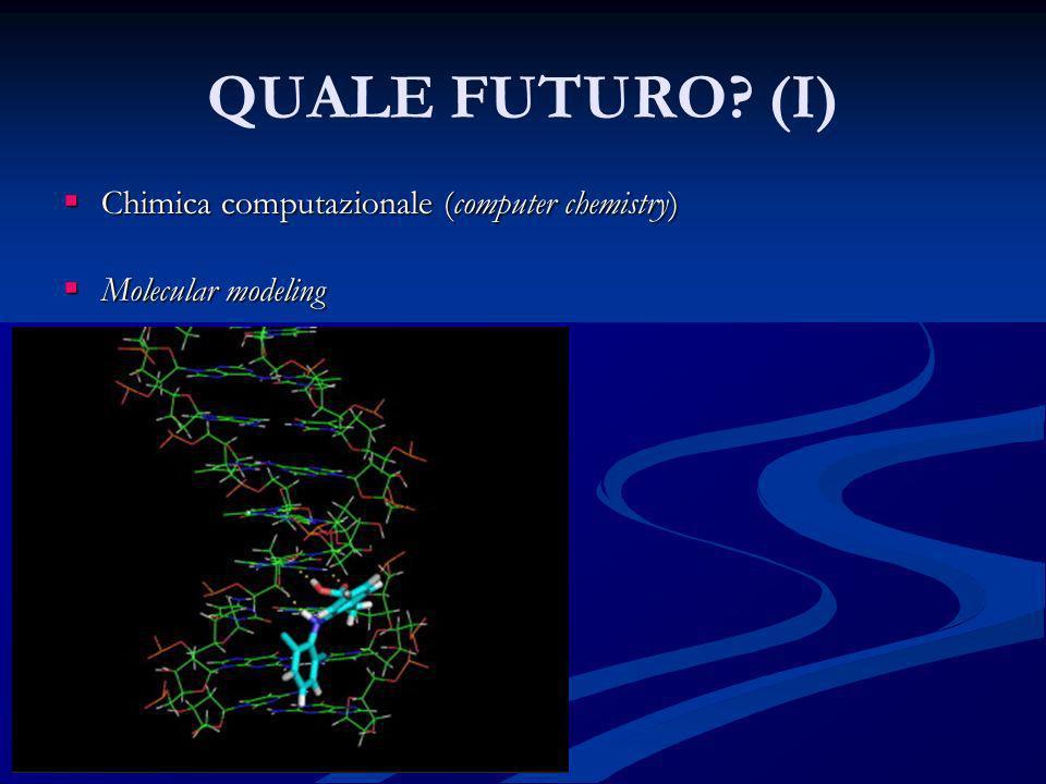 QUALE FUTURO? (I) Chimica computazionale (computer chemistry) Chimica computazionale (computer chemistry) Molecular modeling Molecular modeling