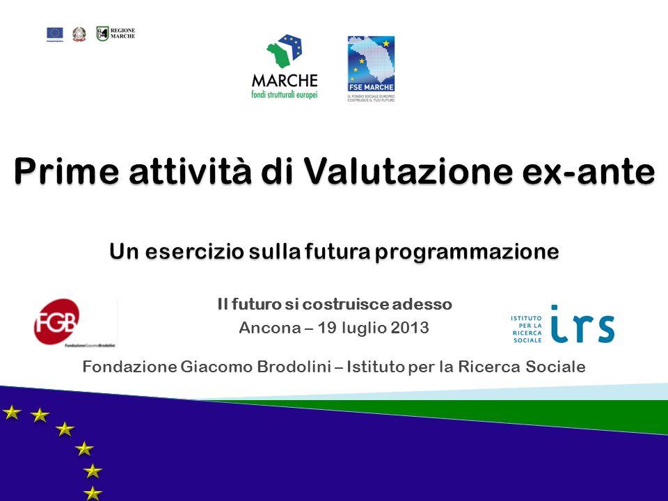 Il futuro si costruisce adesso Ancona – 19 luglio 2013 Fondazione Giacomo Brodolini – Istituto per la Ricerca Sociale