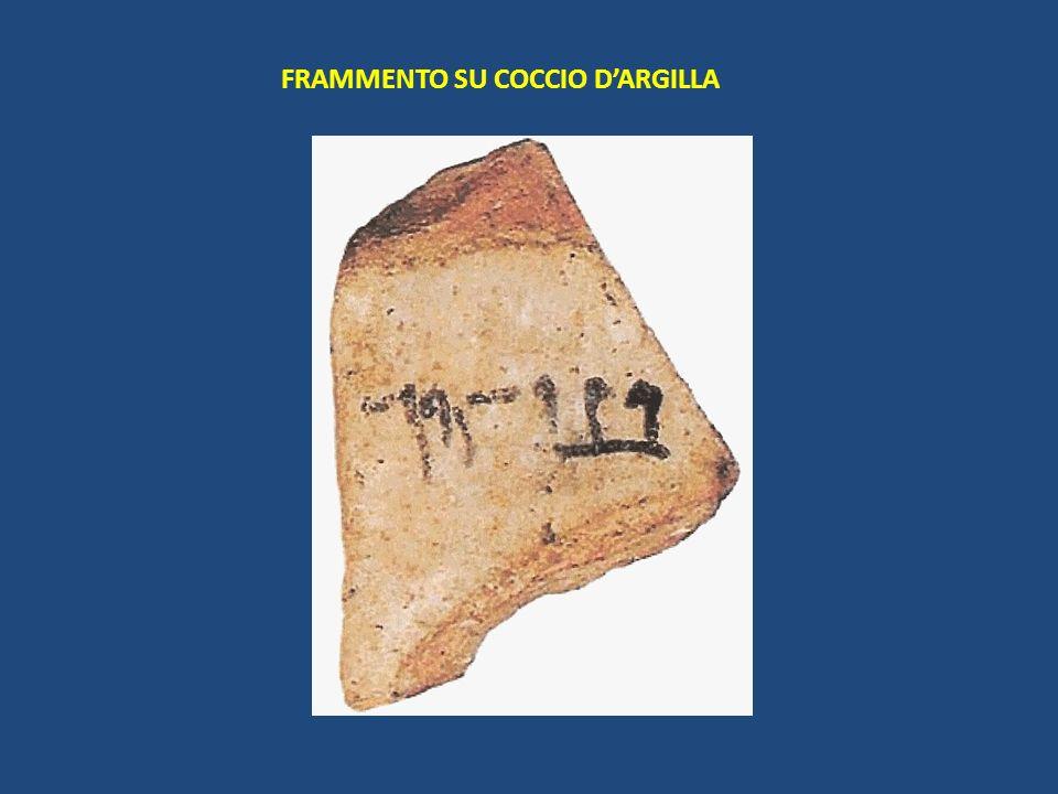 I frammenti… Ci sono pervenuti pochissimi frammenti ( in tutto 20) su papiro e su pietra.