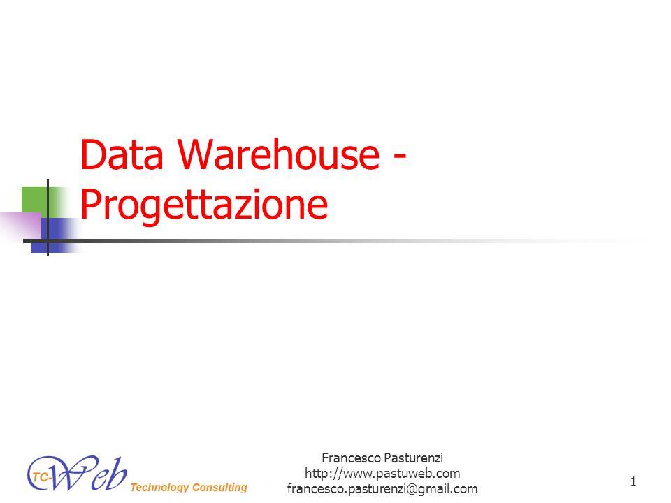 Data Warehouse - Progettazione Francesco Pasturenzi http://www.pastuweb.com francesco.pasturenzi@gmail.com 1
