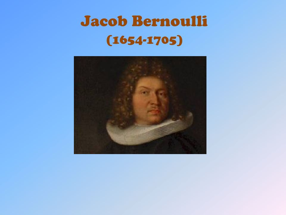 Jacob Bernoulli (1654-1705)