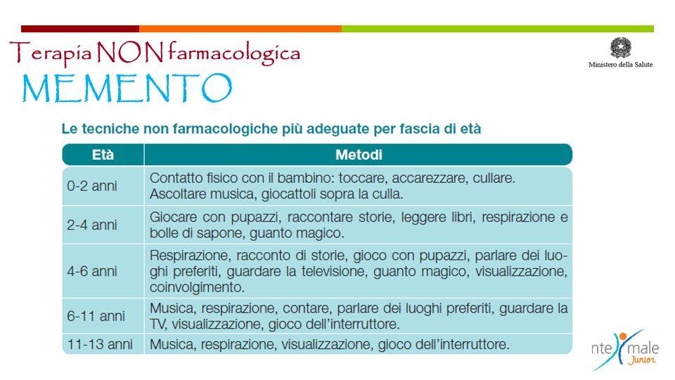 Terapia NON farmacologica MEMENTO