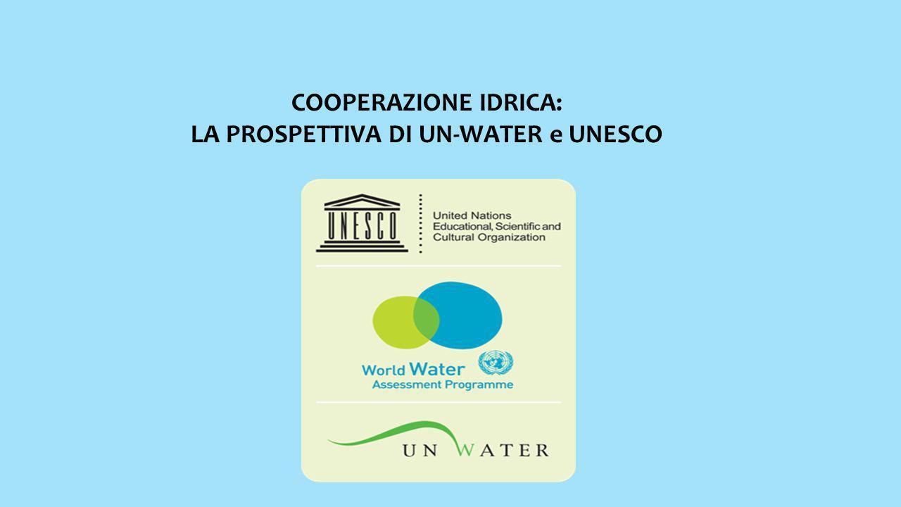 COOPERAZIONE IDRICA: LA PROSPETTIVA DI UN-WATER e UNESCO