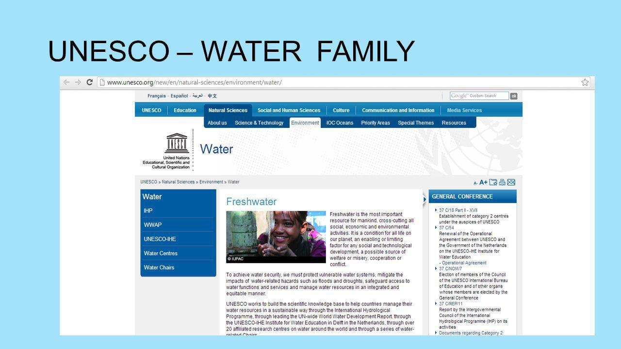 UNESCO – WATER FAMILY
