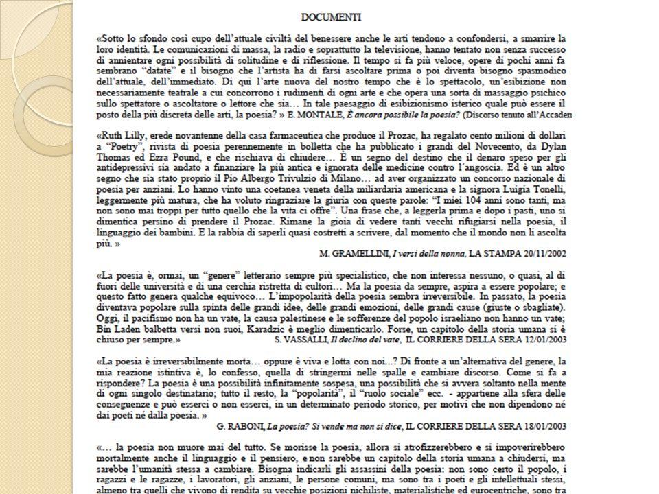 1 - Lettura analitica dei documenti