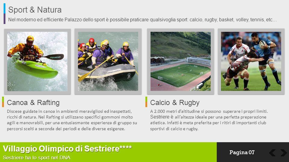 Sport & Natura Nel moderno ed efficiente Palazzo dello sport è possibile praticare qualsivoglia sport: calcio, rugby, basket, volley, tennis, etc… Vil