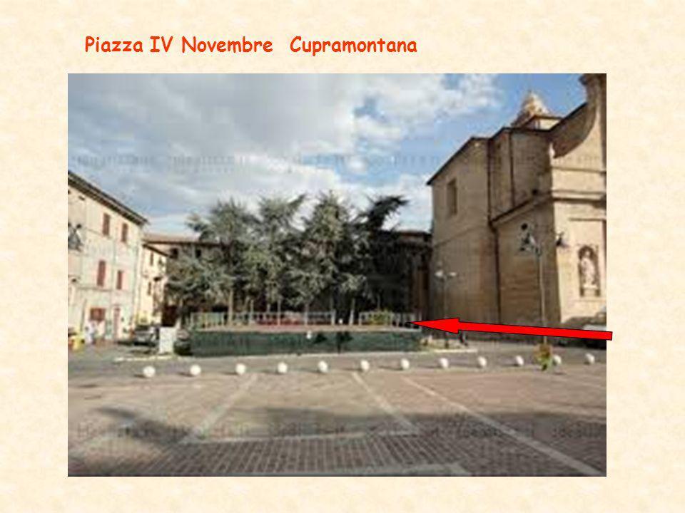 Piazza IV Novembre Cupramontana
