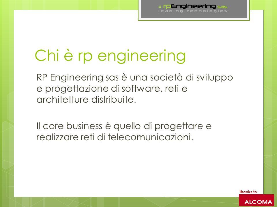Chi è rp engineering RP Engineering sas è una società di sviluppo e progettazione di software, reti e architetture distribuite. Il core business è que