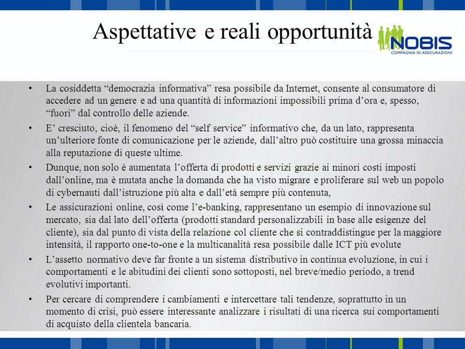 Distribuzione assicurativa Gli impatti dei trend Quale è il livello di preparazione delle compagnie nei confronti delle sfide poste da tali tendenze.
