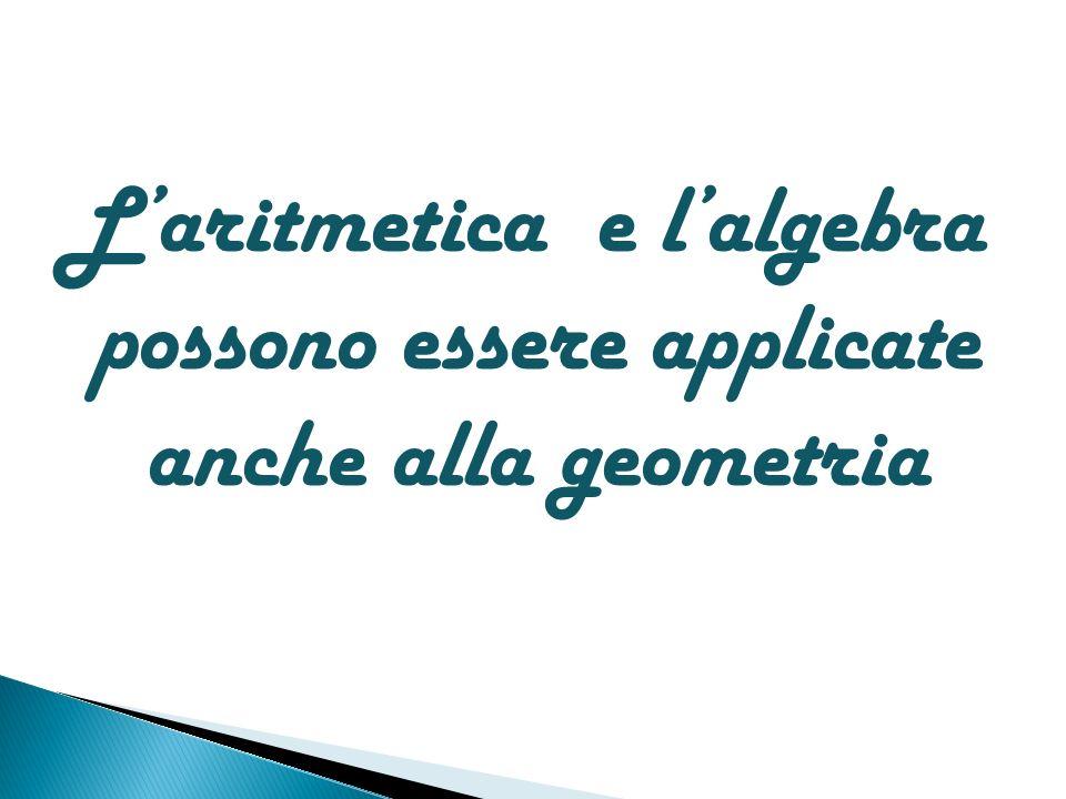 Laritmetica e lalgebra possono essere applicate anche alla geometria