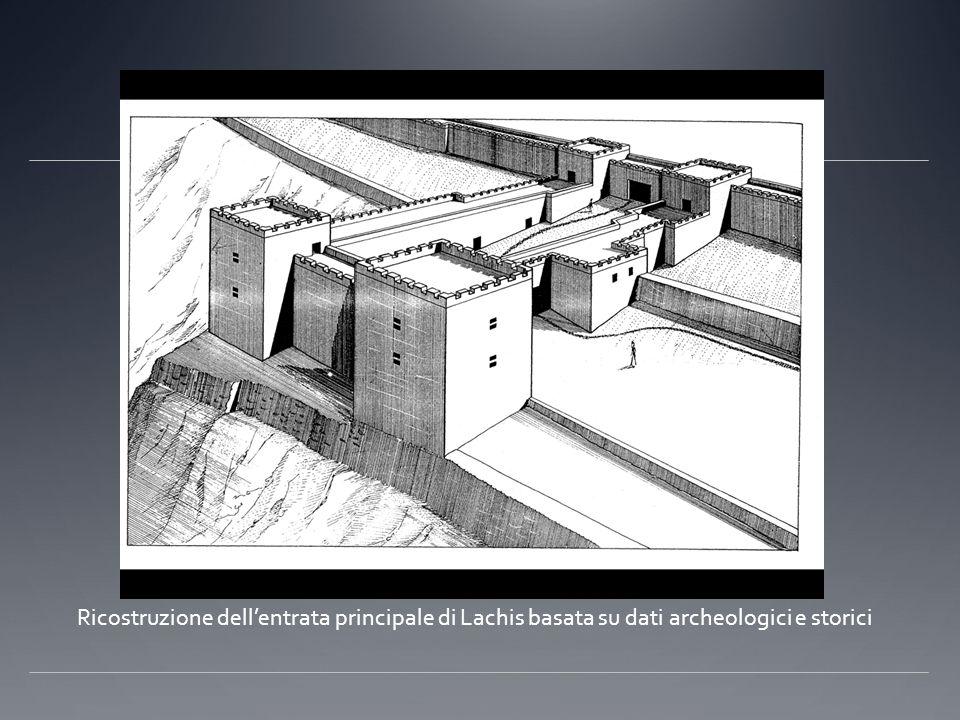 Ricostruzione dellentrata principale di Lachis basata su dati archeologici e storici
