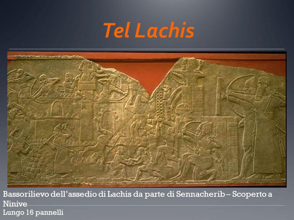 Tel Lachis Bassorilievo dellassedio di Lachis da parte di Sennacherib – Scoperto a Ninive Lungo 16 pannelli