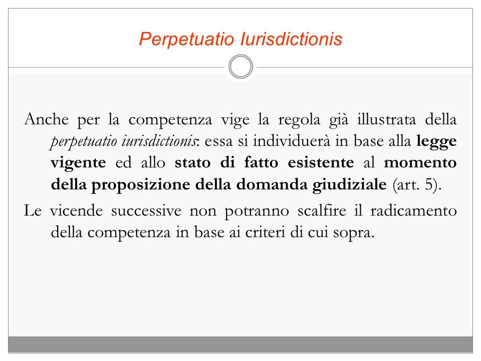 La competenza per Territorio Attraverso la competenza per territorio si attua la distribuzione orizzontale delle cause tra i vari uffici.