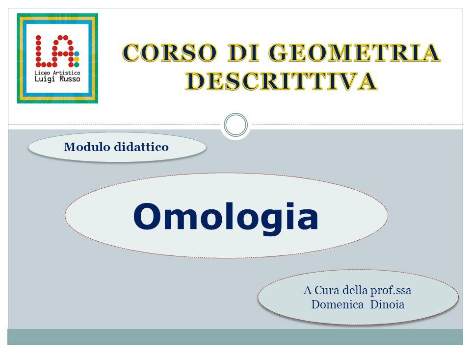 A Cura della prof.ssa Domenica Dinoia Modulo didattico Omologia