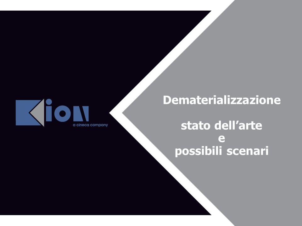 Dematerializzazione stato dellarte e possibili scenari
