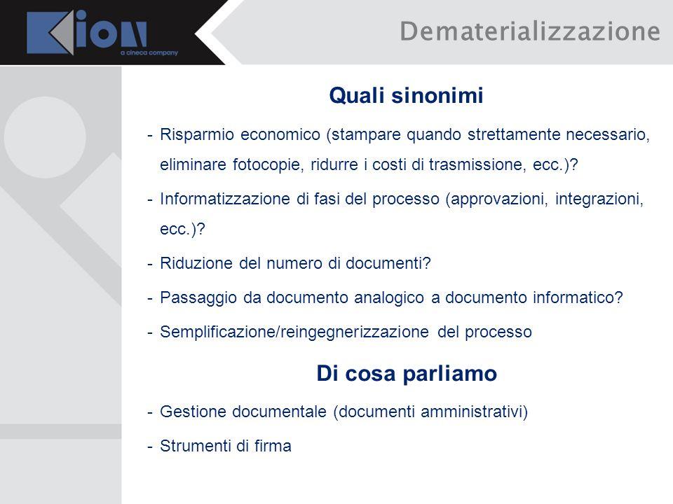 Firma digitale -Dispositivo locale -Smart card -Token USB -Dispositivo remoto (HSM) -Firma remota (con strumenti OTP) -Firma automatica Strumenti di firma (1/3)