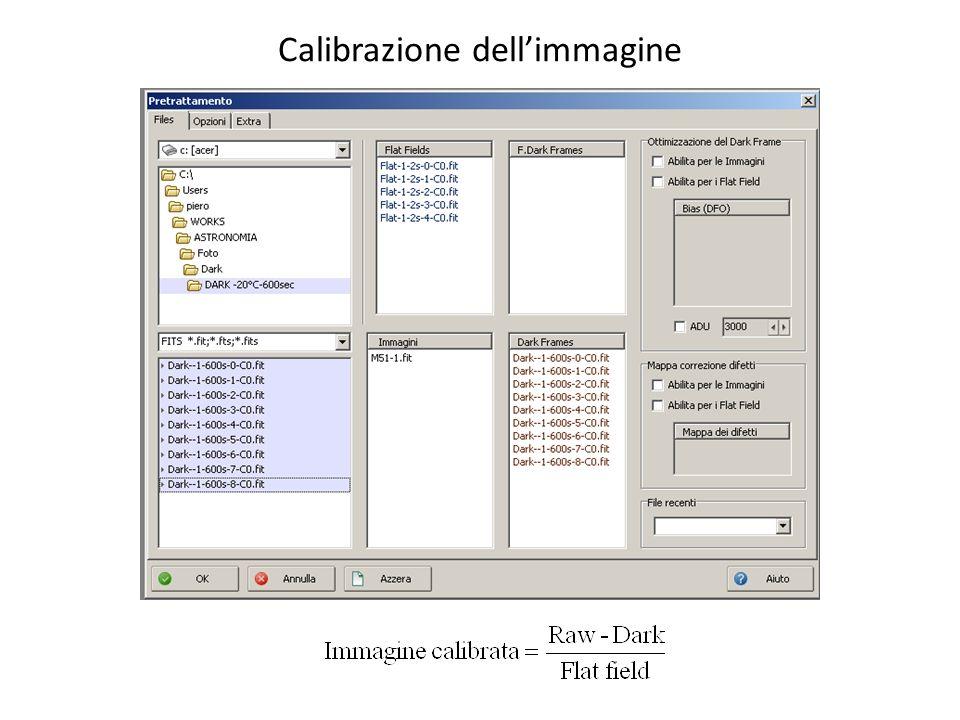 Calibrazione dellimmagine