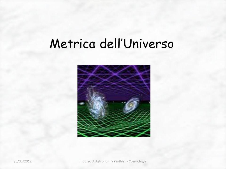 Metrica dellUniverso II Corso di Astronomia (Sothis) - Cosmologia25/05/2012