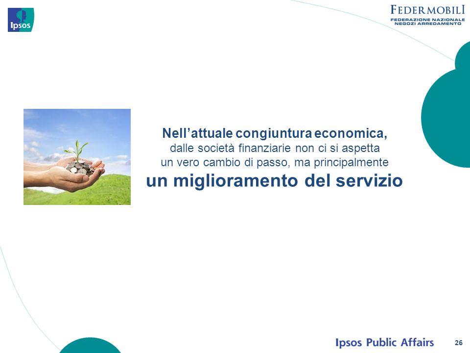 Nellattuale congiuntura economica, dalle società finanziarie non ci si aspetta un vero cambio di passo, ma principalmente un miglioramento del servizi