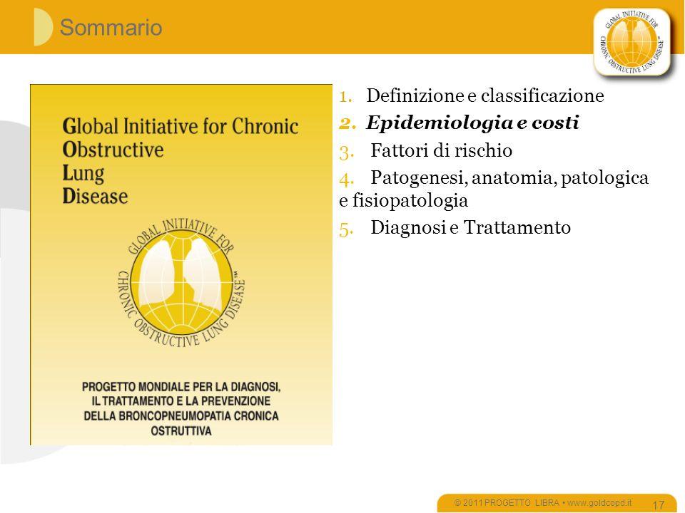 Sommario © 2011 PROGETTO LIBRA www.goldcopd.it 17 1.Definizione e classificazione 2.Epidemiologia e costi 3.