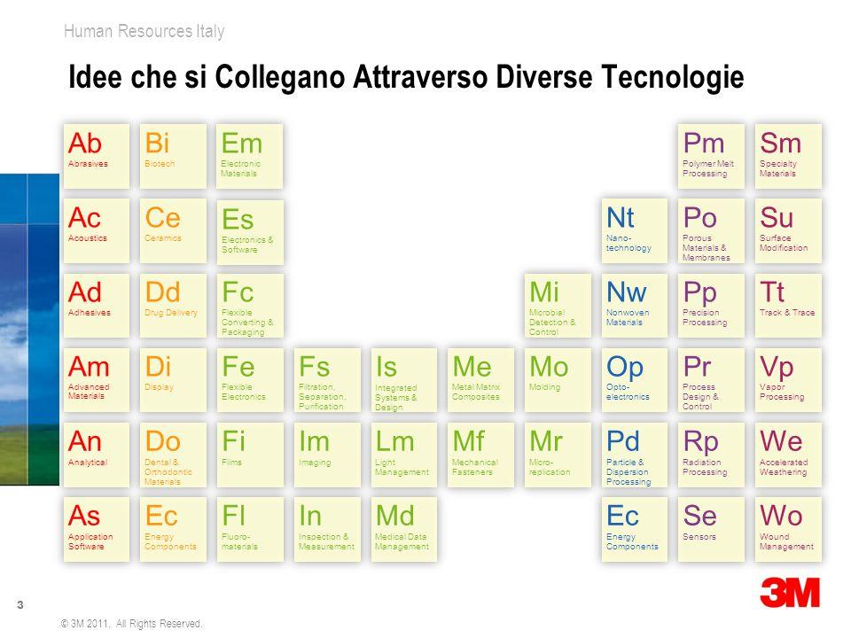4 Human Resources Italy © 3M 2011. All Rights Reserved. Costruiamo il Progresso Intorno a Noi