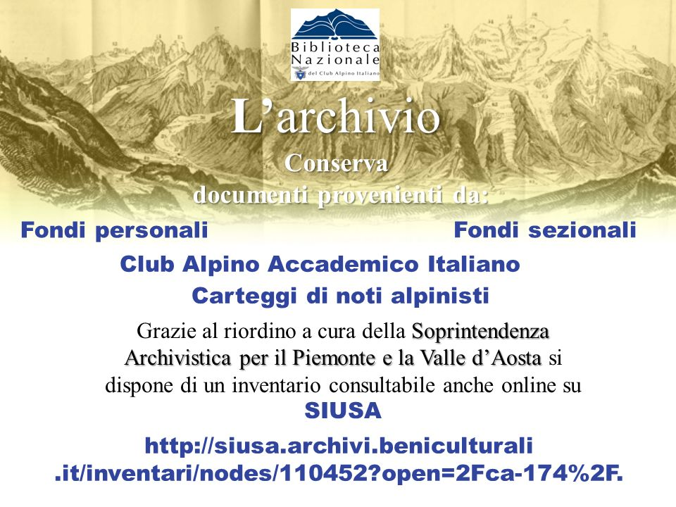 Ifondi speciali I fondi speciali Cartografia storica e corrente Manoscritti