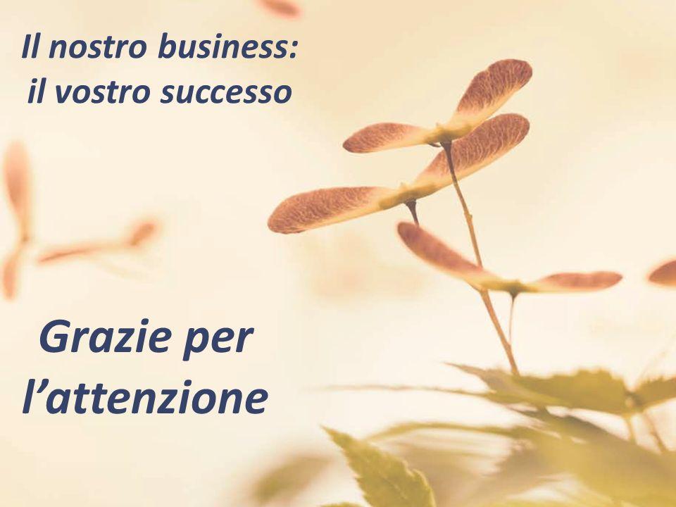 Grazie per lattenzione Il nostro business: il vostro successo