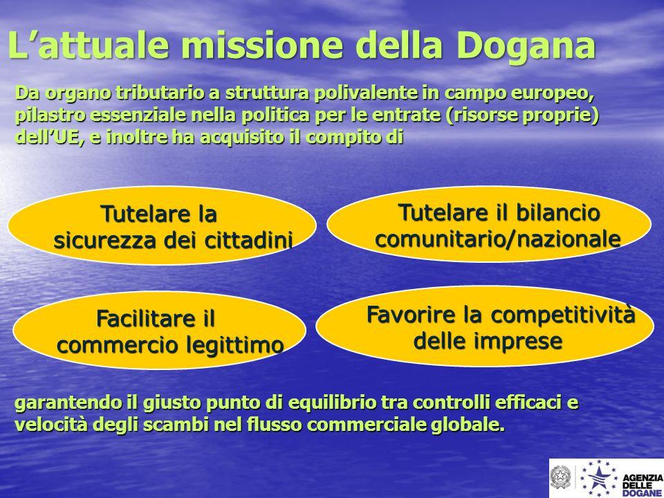 Lattuale missione della Dogana Da organo tributario a struttura polivalente in campo europeo, pilastro essenziale nella politica per le entrate (risor