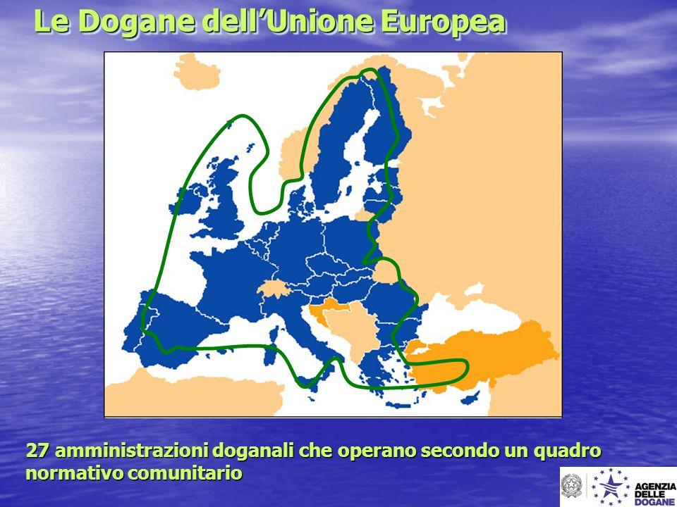 Le Dogane dellUnione Europea Le Dogane dellUnione Europea 27 amministrazioni doganali che operano secondo un quadro normativo comunitario
