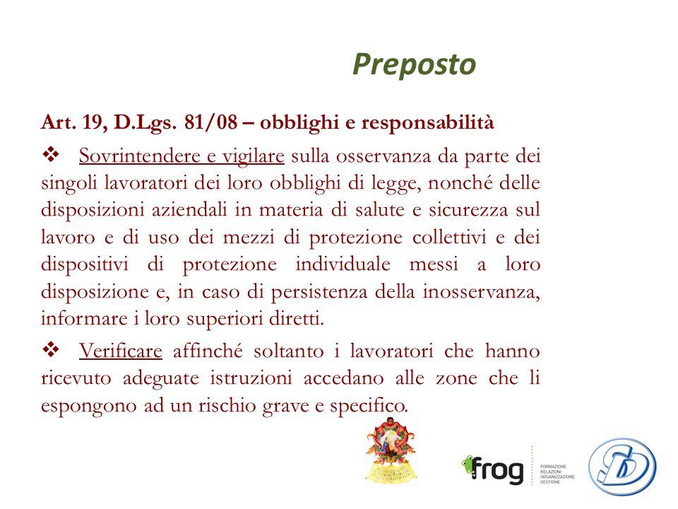 Preposto Art.19, D.Lgs.