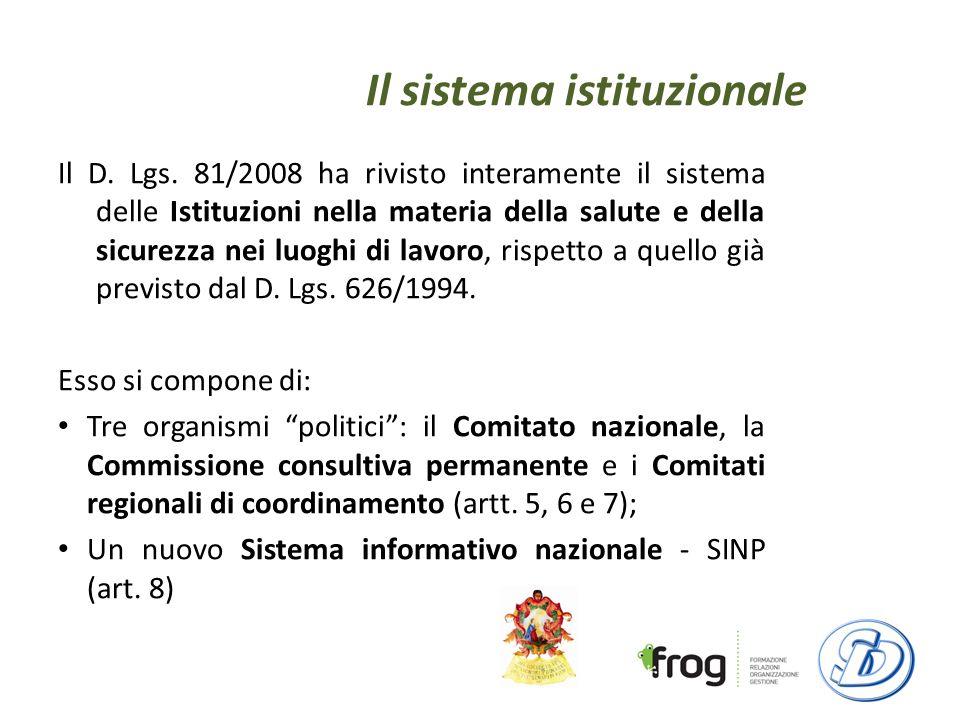 Il sistema istituzionale Il D.Lgs.