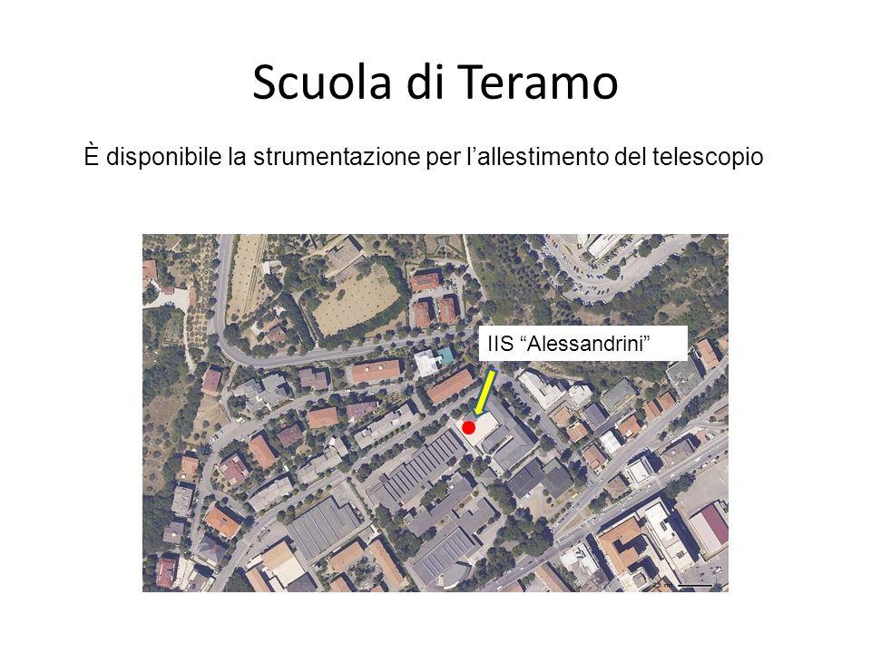 Scuola di Teramo IIS Alessandrini È disponibile la strumentazione per lallestimento del telescopio