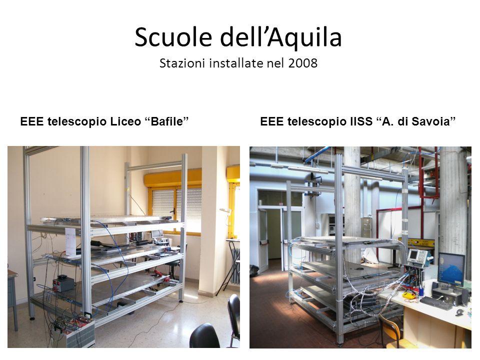 Seconda Conferenza dei Progetti del Centro Fermi 19-20 aprile 2012 Roma Posizione delle 2 scuole del progetto EEE.