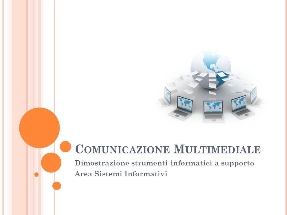 C HE COSA È Per comunicazione multimediale indichiamo la distribuzione simultanea di informazione verso un gruppo di destinatari sfruttando differenti tecnologie.
