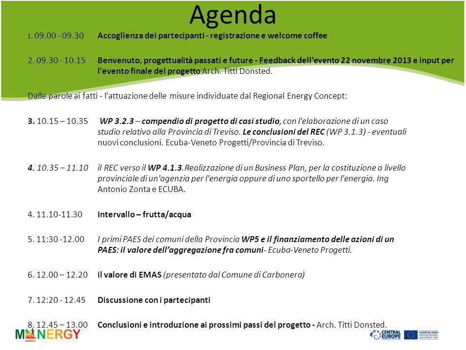 Agenda 1.09.00 - 09.30 Accoglienza dei partecipanti - registrazione e welcome coffee 2.