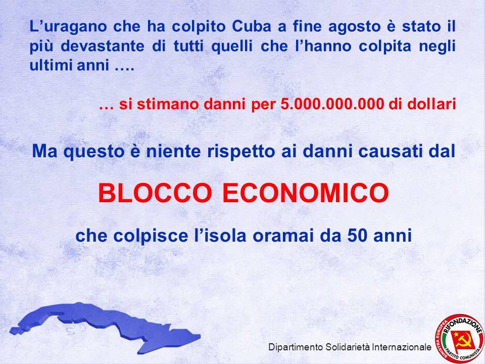 Luragano che ha colpito Cuba a fine agosto è stato il più devastante di tutti quelli che lhanno colpita negli ultimi anni …. … si stimano danni per 5.