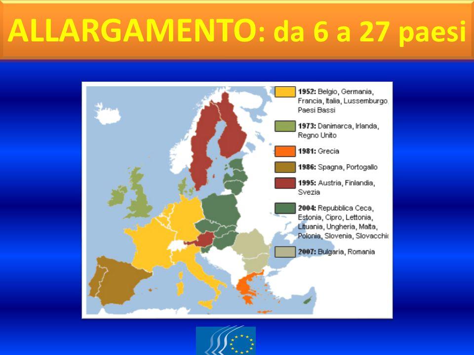 CARTINA GEOGRAFICA ALLARGAMENTO : da 6 a 27 paesi