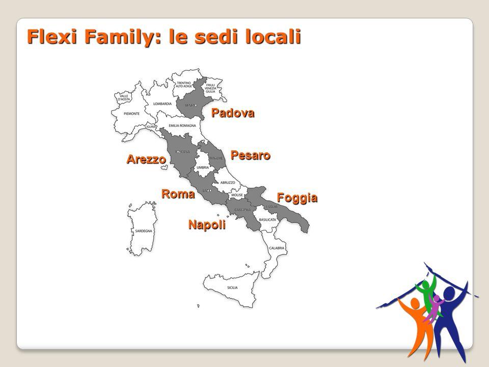 Flexi Family: le sedi locali Padova Pesaro Foggia Napoli Roma Arezzo